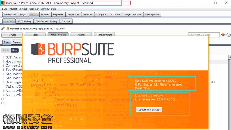 BurpSuite 2020.9.1 渗透测试工具破解版下载-极安网