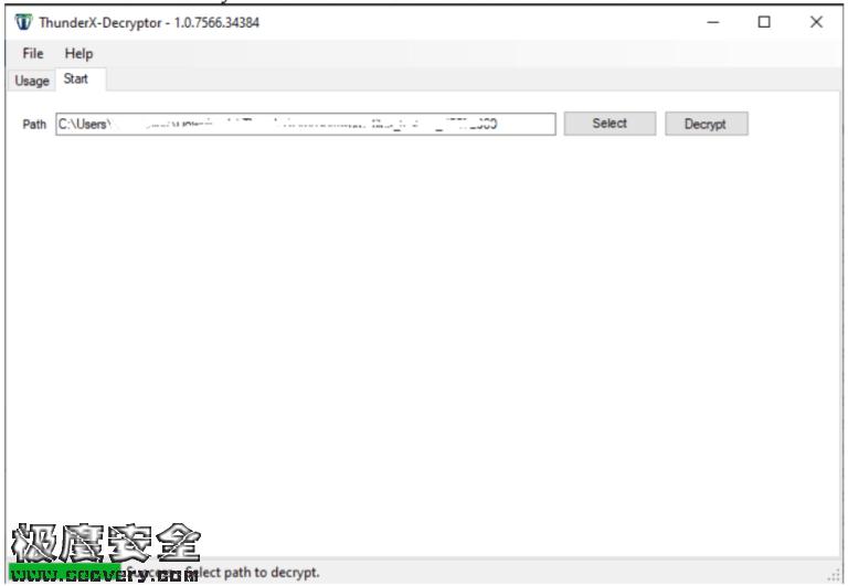 ThunderX勒索软件解密恢复工具-极安网