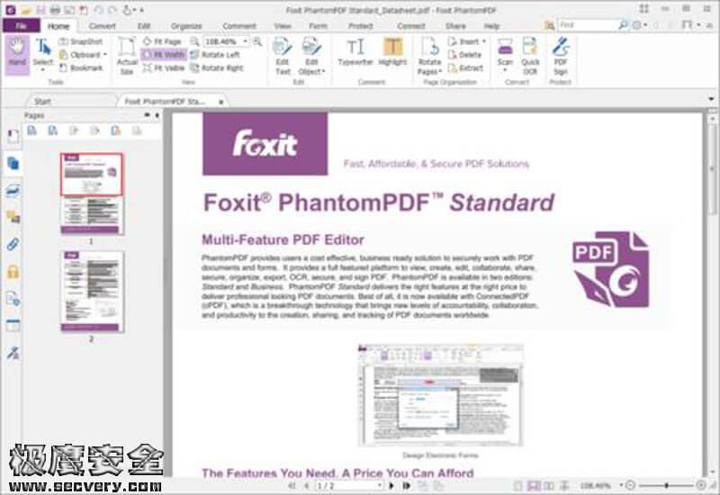 Foxit PhantomPDF(福昕风腾PDF) 10.1.0.37527 企业破解版-极安网