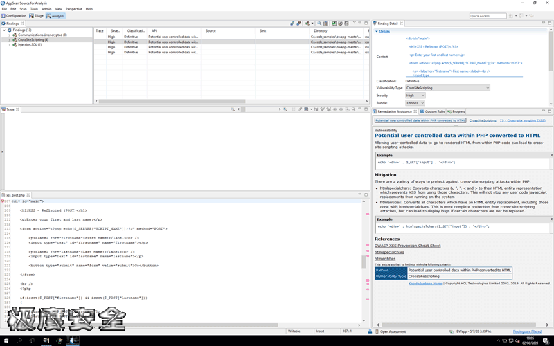 AppScan 10.0.1 Web漏洞扫描软件破解版本下载-极安网