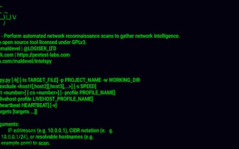 自动化网络侦察扫描工具Intelspy