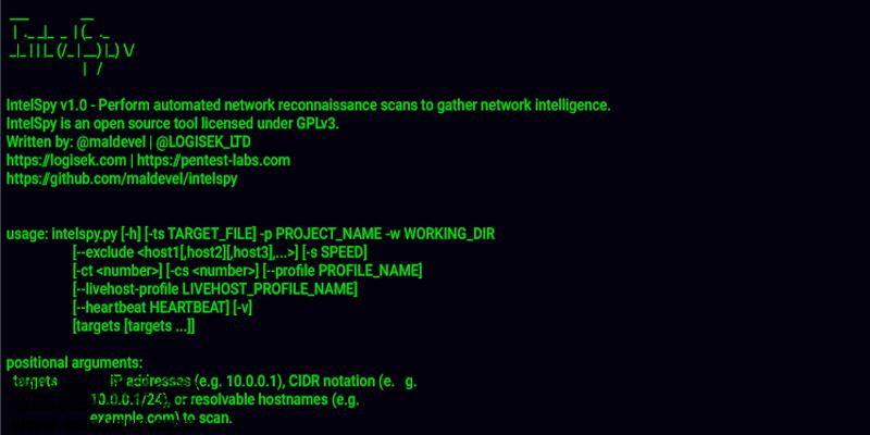 自动化网络侦察扫描工具Intelspy-极安网