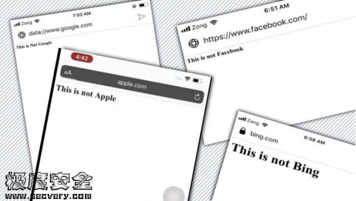 安全人员发现七款手机浏览器易遭地址栏欺骗攻击-极安网