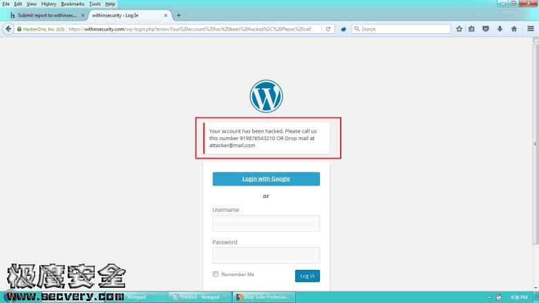 WebHacking101中文版第一章:HTML注入-极安网