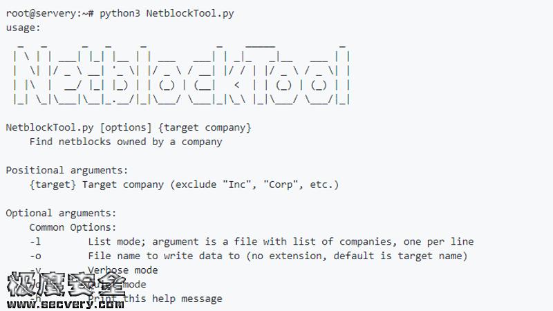 公司IP列表快速收集扫描工具:NetSPI/NetblockTool-极安网