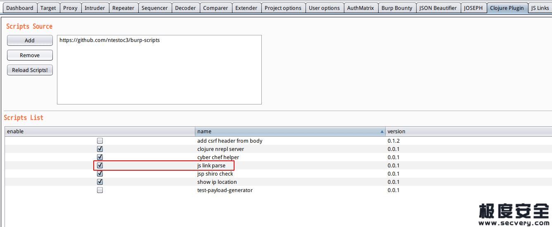 JSFind:扫描JS文件中链接的BurpSuite脚本-极安网