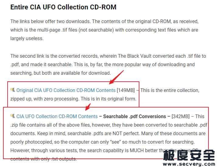 美国中央情报局收集的关于UFO文件合集公开-极安网