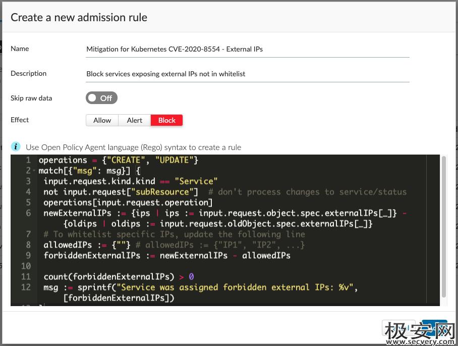 CVE-2020-8554:Kubernetes的中间人漏洞-极安网